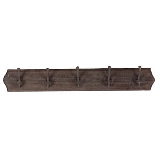 Wooden Wall Hook-Dark Brown