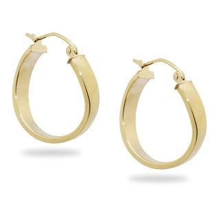 Gioelli 14k Yellow Gold Twist Hoop Earrings