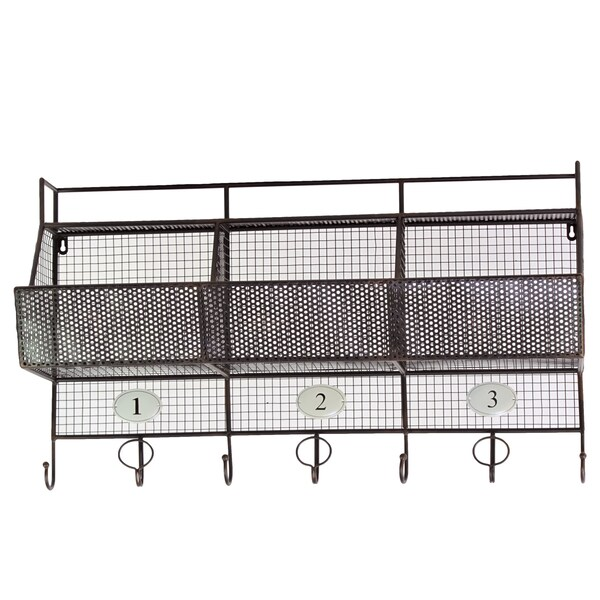 Metal Shelf 3-hook Coat Hanger
