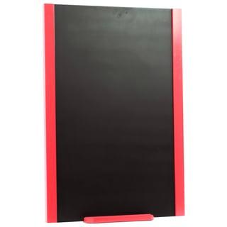 Red Wooden Frame Blackboard