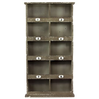 Brown 8-cubby Wooden Wall Cabinet