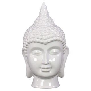 White Ceramic Buddha Head