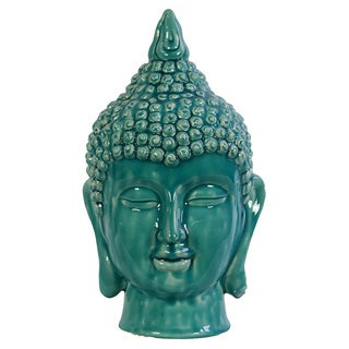 Blue Ceramic Buddha Head