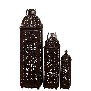 Metal Rustic Lantern (Set of 3)