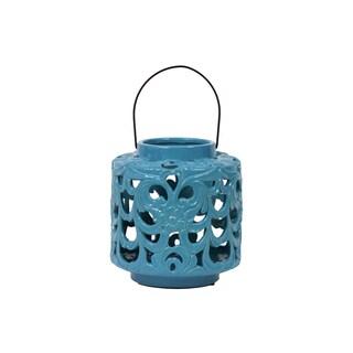 Turquoise Ceramic Lantern