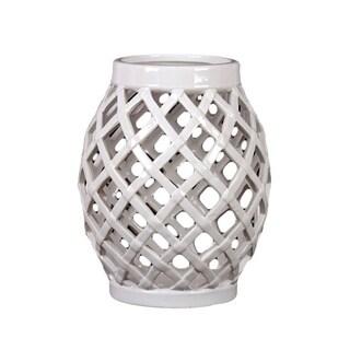 White Ceramic Lantern