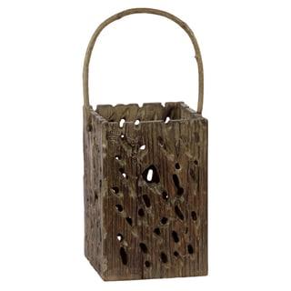Brown Wooden Open Lantern