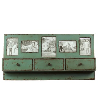 Green Wooden Shelf Picture Frame