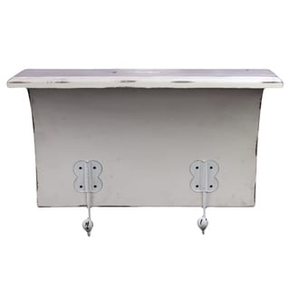White Weathered Wooden Shelf