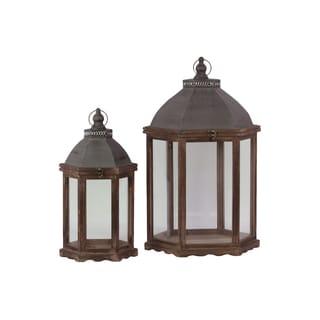 Wooden Lantern (Set of Two)