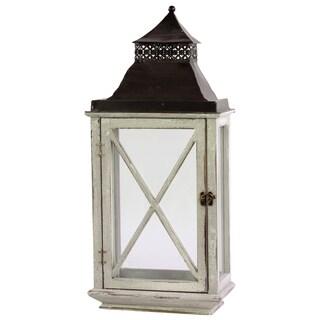 Two-tone Wooden/ Metal Lantern
