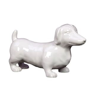 White Ceramic Dog
