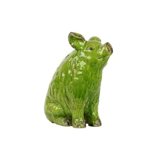 Green Ceramic Pig