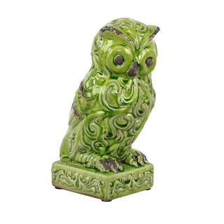 Ceramic Owl Green