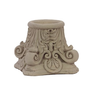 Sandstone-finished Cement Candle Holder