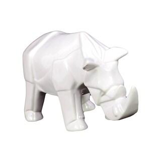 Ceramic Rhino Decoration