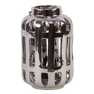 Silver Ceramic Lantern