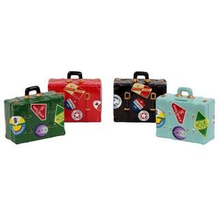 Ceramic Suitcase Money Bank (Set of Four)
