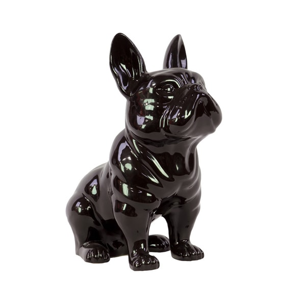 Small Black Ceramic Dog