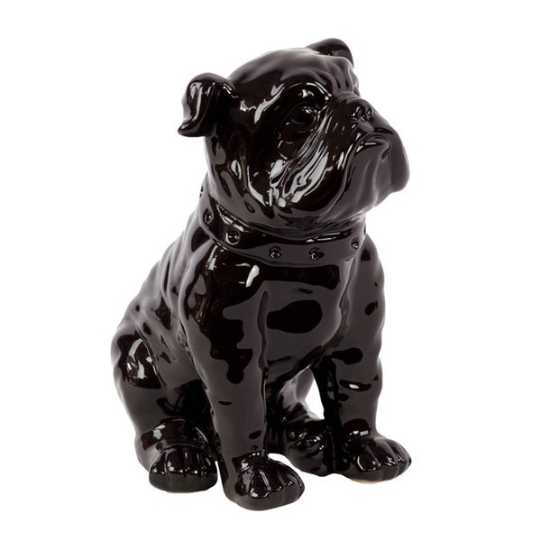 Black Ceramic Dog