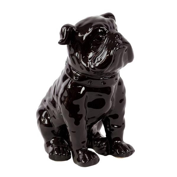 Black Ceramic Dog