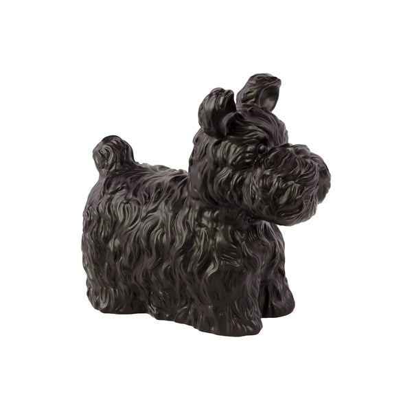 Matte Black Ceramic Dog