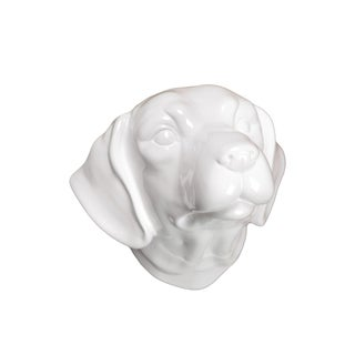 White Ceramic Dog Head