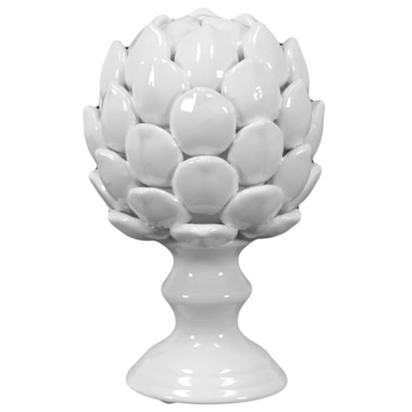 Large White Porcelain Artichoke