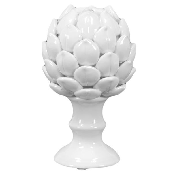 Small White Porcelain Artichoke