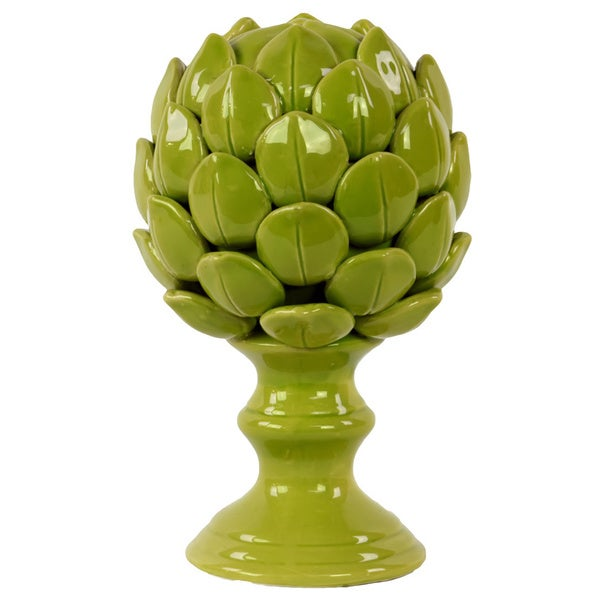 Large Porcelain Artichoke Green