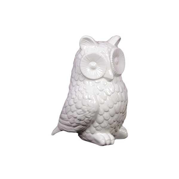 White Ceramic Owl White