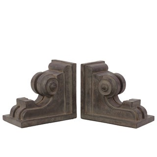 Fiberstone Bookends and Wall Decor (Set of 2)