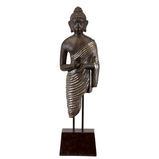 Urban Trends Resin Buddha Figurine on Stand