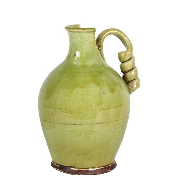 Ceramic Tuscan Green Vase