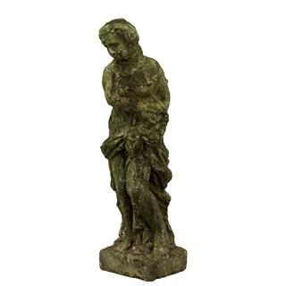 Moss Stoneware Female Statue