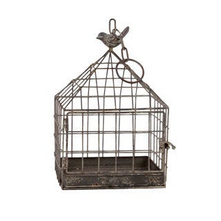 Grey Metal Bird Cage