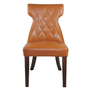Elegant Saddle Faux Leather Parson Dining Chair (Set of 2)