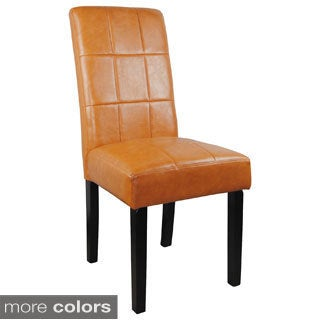 Faux Leather Parson Chairs (Set of 2)