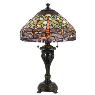 Cal Lighting Tiffany Antique Bronze Table Lamp