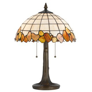 Cal Lighting Tiffany Antique Brass Table Lamp