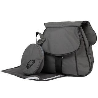 Grey Sidekick Deluxe Diaper Bag and Baby Carrier