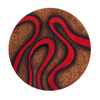 Donoma Red Round Wall Disc Decor