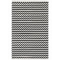 Hand Woven Flat Weave Black Electro Wool Rug (8' x 10')