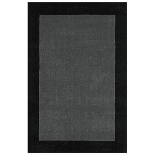 Grey Border Pulse Hand Tufted Wool 4x6' Rug