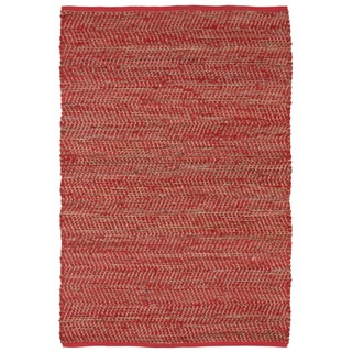 Red Jeans Hand Woven Denim and Hemp 5' x 8' Rug