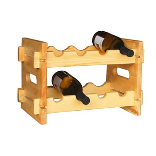Chateauroux 4-bottle Wooden Wine Rack