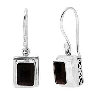 Sterling Silver Garent Earrings