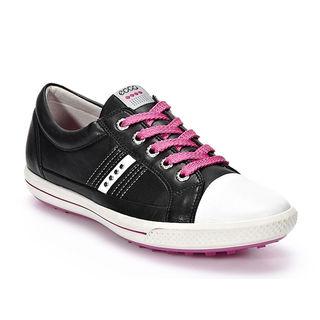 Ecco ladies Golf Street Lace Golf Shoes Black/ White