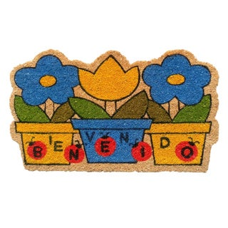 "Bienvenido Welcome-Coir with Vinyl Backing Doormat (17"" x 29"")"
