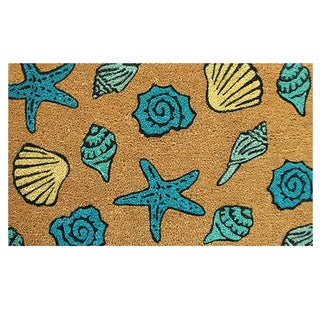 "Seashells-Coir with Vinyl Backing Doormat (17"" x 29"")"